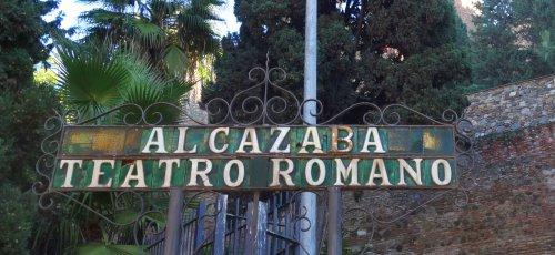Malaga Alcazaba Schild