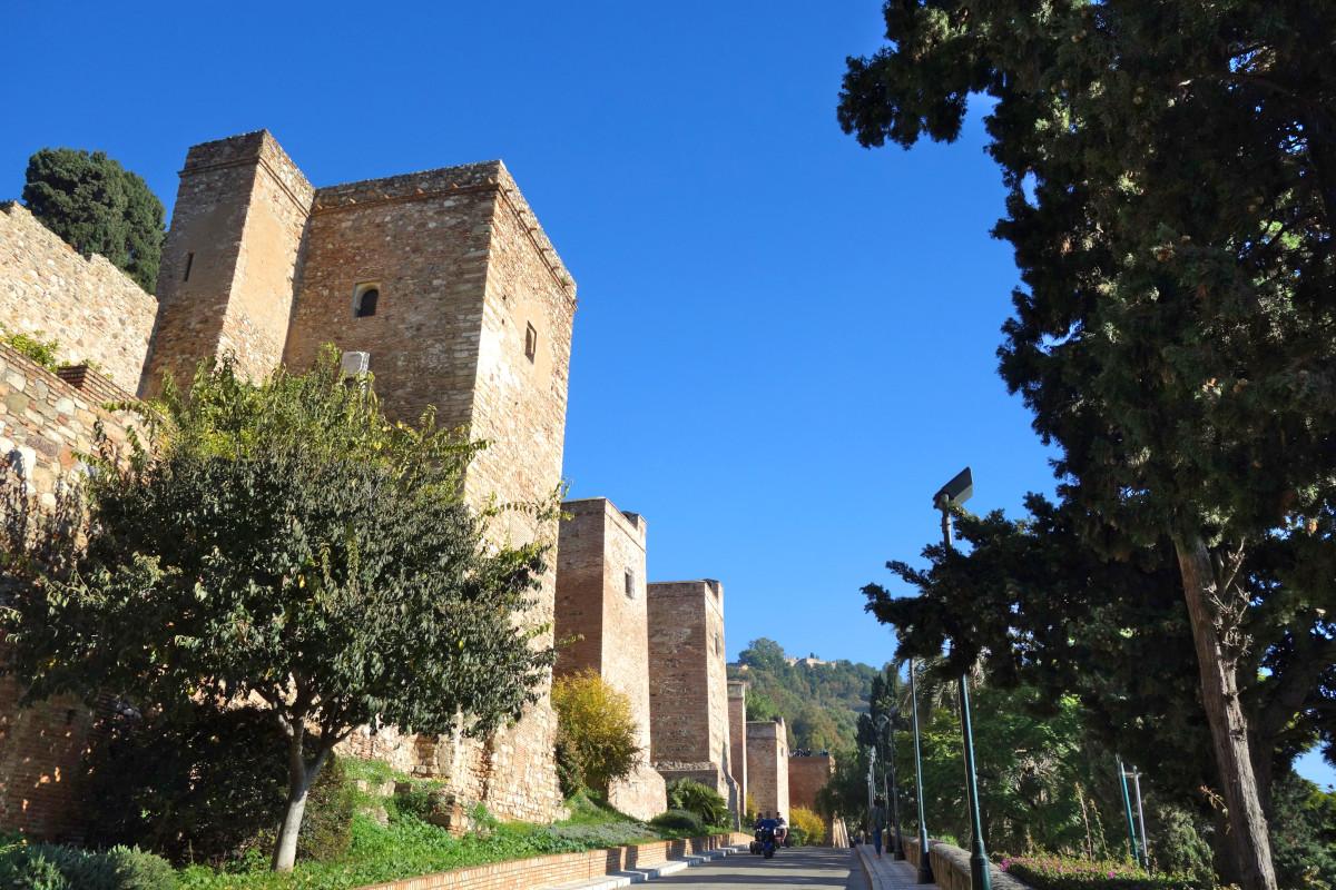 Malaga Alcazaba Mauern