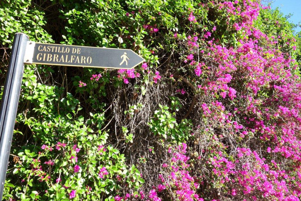 Malaga Weg zum Gibralfaro