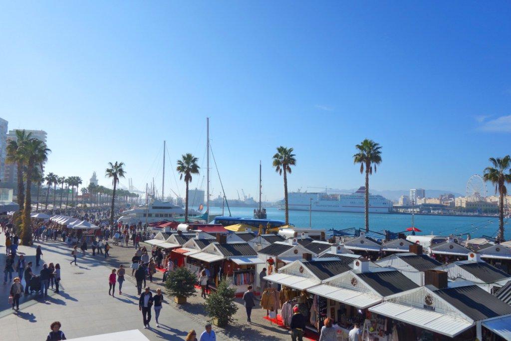 Malaga Hafenpromenade