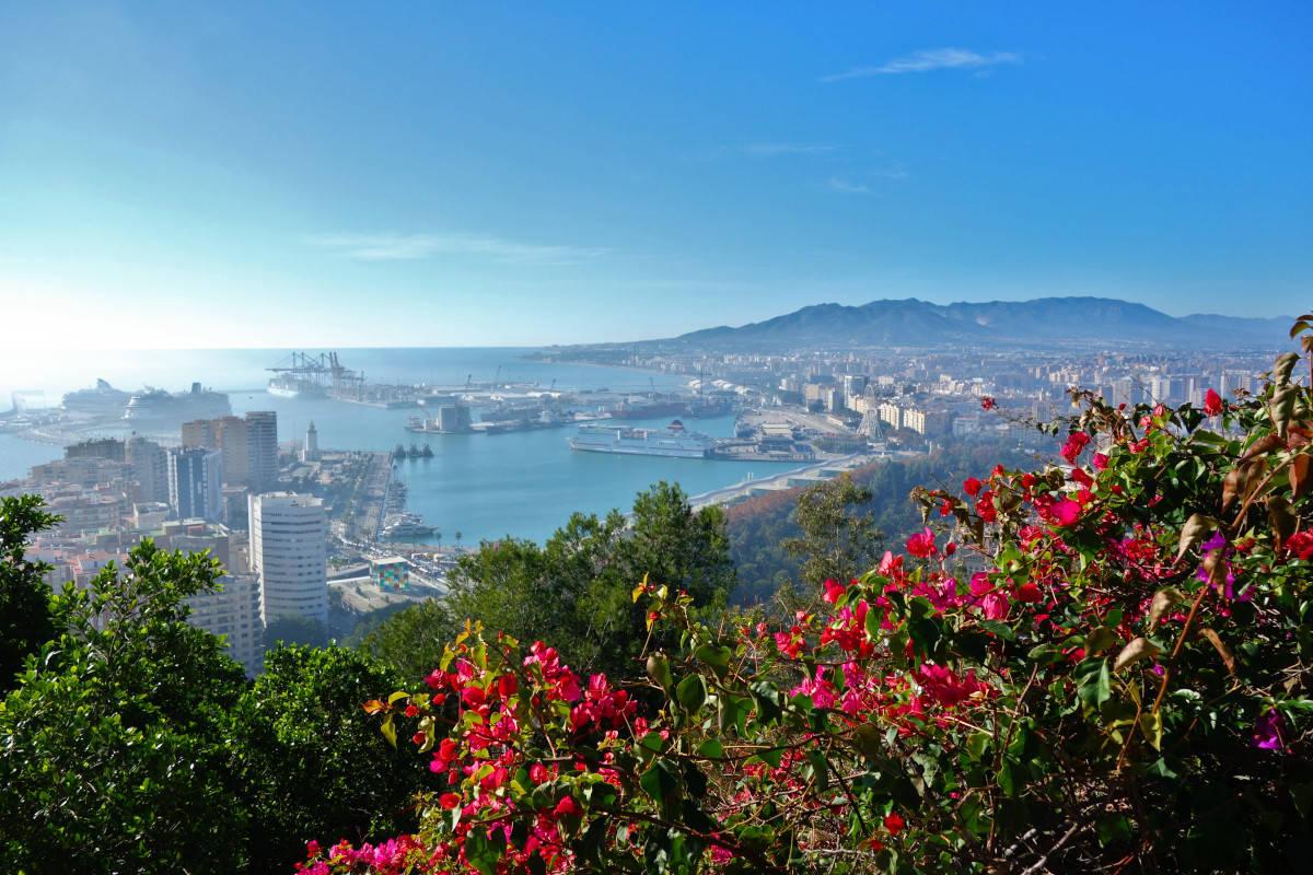 Sicht über Malaga