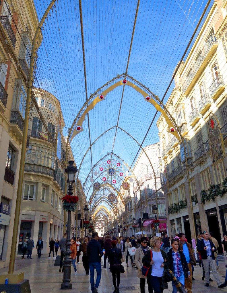 Malaga Calle Larios Winter