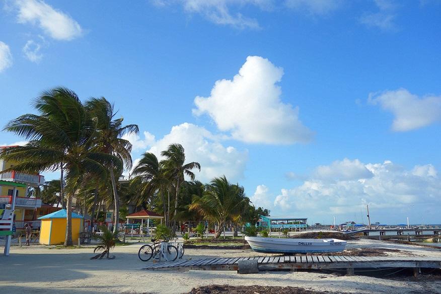Caye Caulker Stadt Strand