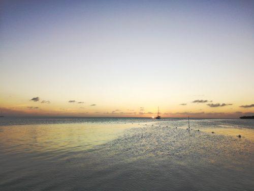 Caye Caulker Strand Koko King Sonnenuntergang