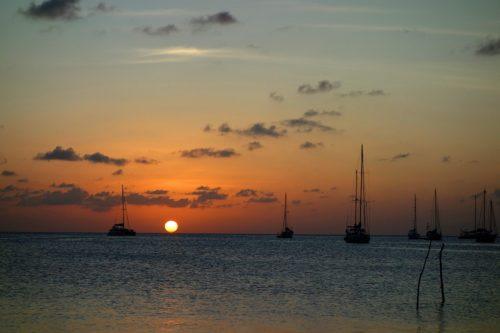 Caye Caulker Strand Sonnenuntergang