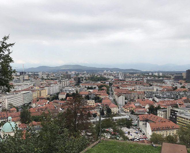 Blick auf Ljubljana