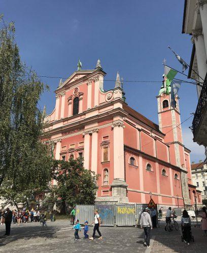 Preseren Platz Franziskaner Kirche