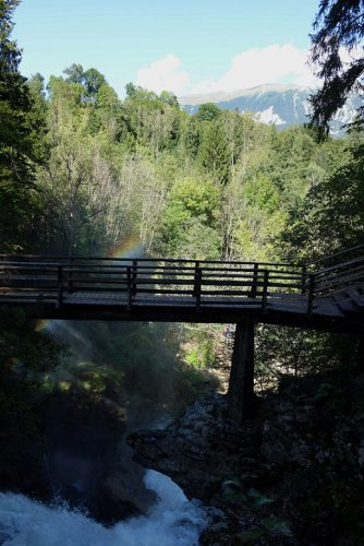 Vintgar Klamm Wasserfall Sum von oben