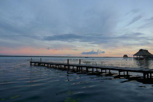Laguna Bacalar Sonnenuntergang