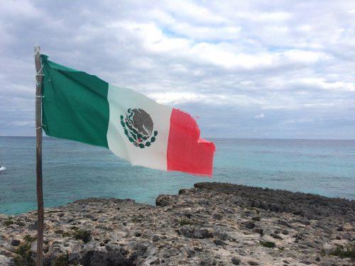 Cozumel Mexiko Fahne
