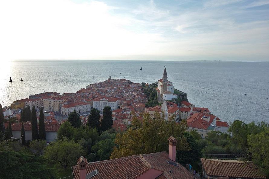 Piran Slowenien Stadtmauer