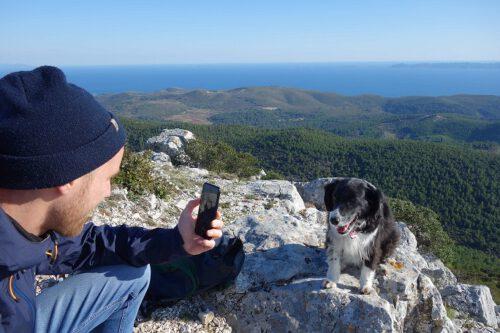 Korcula Kroatien mit Hund