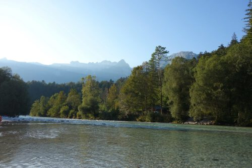 Soca Bovec Berge