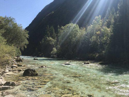 Wandern Soca-Tal Fluss