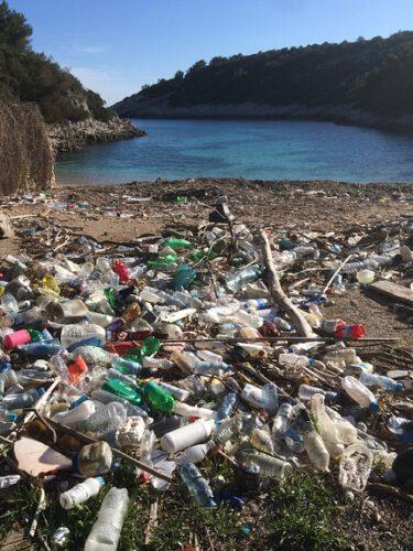 Zitna Korcula Strand Müll
