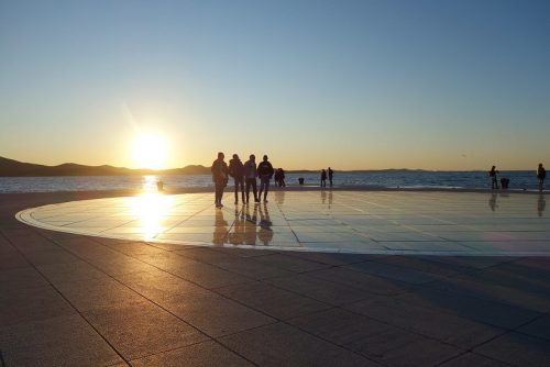 Zadar Sehenswürdigkeiten Gruß an die Sonne